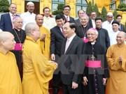 国家主席陈大光:各宗教和谐共处 积极参加建国卫国事业