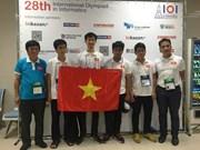 越南学生在国际信息学奥赛中夺得2枚金牌