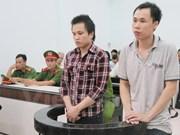"""庆和省人民法院一审公开开庭 审理涉嫌""""宣传破坏越南社会主义共和国""""案两名被告人"""
