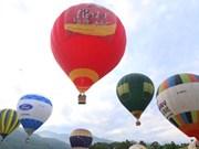 越捷航空公司在木州县举行热气球体验活动