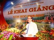 越南党和国家领导人出席2016-2017学年开学典礼