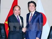 阮春福总理会见日本首相安倍晋三及新西兰总理约翰•基