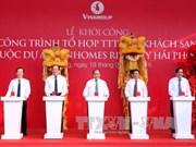 阮春福总理出席海防Vinhomes里瓦城最高塔楼开工仪式