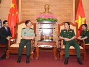 越南人民军总政治局领导人会见中共中央军事委员会政治工作部主任