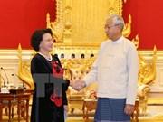 阮氏金银主席拜会缅甸总统丁觉