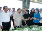 越南政府总理阮春福参观海防VinEco高科技农业投资项目