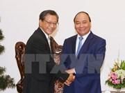 越南政府总理阮春福会见日本驻越南大使大岛浩