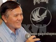 柬埔寨救国党副主席根索卡躲避4个月之后登记参加选举