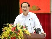 越南国家主席陈大光接触胡志明市选民