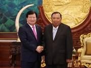 越南政府副总理郑廷勇对老挝进行正式访问