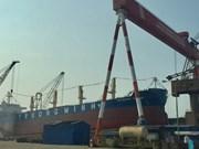 海防市56200吨散货船成功下水