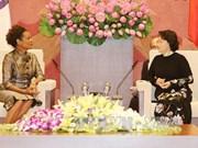 越南国会主席阮氏金银会见法语国家组织秘书长米夏埃尔·让