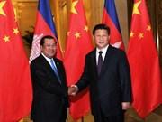 中柬加强全面战略合作伙伴关系