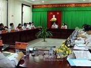 越共中央政治局工作代表团莅临朔庄省调研