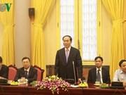 国家主席陈大光与越南南部退休安全军官代表团会面