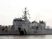 """印度海岸警卫队""""印度风""""号巡逻舰访问越南岘港市"""