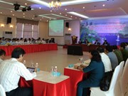 越南平阳省领导与中国台湾企业进行对话