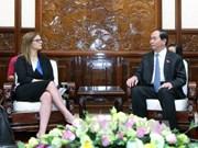 国家主席陈大光会见以色列驻越大使埃隆·沙哈尔