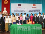 越南安江省与柬埔寨干丹和茶胶两省的关系不断向纵深发展