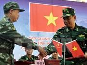 越中举行2016年联合反恐演练