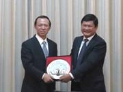 胡志明市与中国山东省加强合作关系
