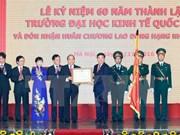 阮春福总理:建设与发展国民经济大学成为地区乃至世界上在经济等领域上具有权威的多科性、研究型大学