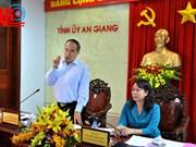 越南祖国阵线中央委员会主席阮善仁赴安江省调研