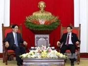 越共中央组织部部长范明正会见中国驻越大使洪小勇