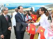 越南国家主席陈大光与夫人开始对古巴共和国进行正式访问