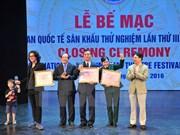 第三次国际实验戏剧节闭幕:越南夺得17枚金牌