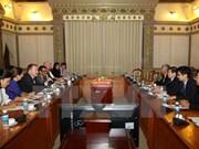 胡志明市领导会见越南欧洲商会首席代表米切尔·贝伦斯