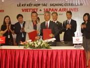越捷航空与日本航空公司签署全面合作协议