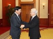 越南党和国会领导会见老挝总理通伦•西苏里(组图)