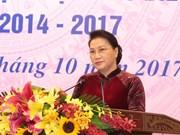 国会主席阮氏金银出席全国乡级祖国阵线委员会主席和阵线工作委员会优秀主任表彰大会