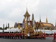 越南国家副主席邓氏玉盛出席泰国先王普密蓬遗体火化仪式(组图)