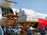 第12号台风受灾群众受到东盟救灾物资(组图)