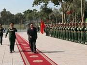 老挝人民革命党中央总书记、国家主席本扬•沃拉吉访问乂安省(组图)