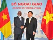越南政府副总理兼外交部长范平明与喀麦隆对外关系部长姆贝拉•姆贝拉•勒热纳举行会谈(组图)