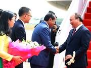 越南政府总理阮春福抵达金边出席澜沧江-湄公河合作第二次领导人会议(组图)