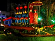 越南全国各地举行花街花展喜迎新春(组图)