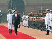 越南国家主席陈大光对印度进行国事访问(组图)