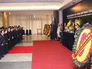 原越南政府总理潘文凯吊唁仪式在河内和胡志明市举行(组图)