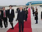 越共中央总书记和越南高级代表团开始对法国进行正式访问(组图)