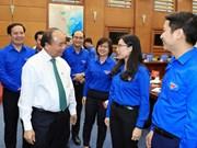 越南政府总理阮春福与胡志明共青团中央委员会举行会议(组图)