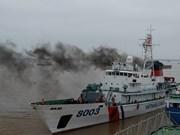 中越开展2018年首次北部湾共同渔区海上联合检查(组图)