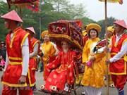 上千游客参观2018年雄王庙迎轿仪式(组图)
