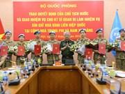 7名越南军官将前往中非和南苏丹执行维和任务(组图)