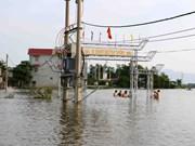 河内市国威县多乡仍被积水淹没(组图)