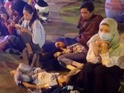 印尼西努沙登加拉省龙目岛地震后的惨状(组图)