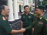 越南与缅甸青年加强军官经验交流